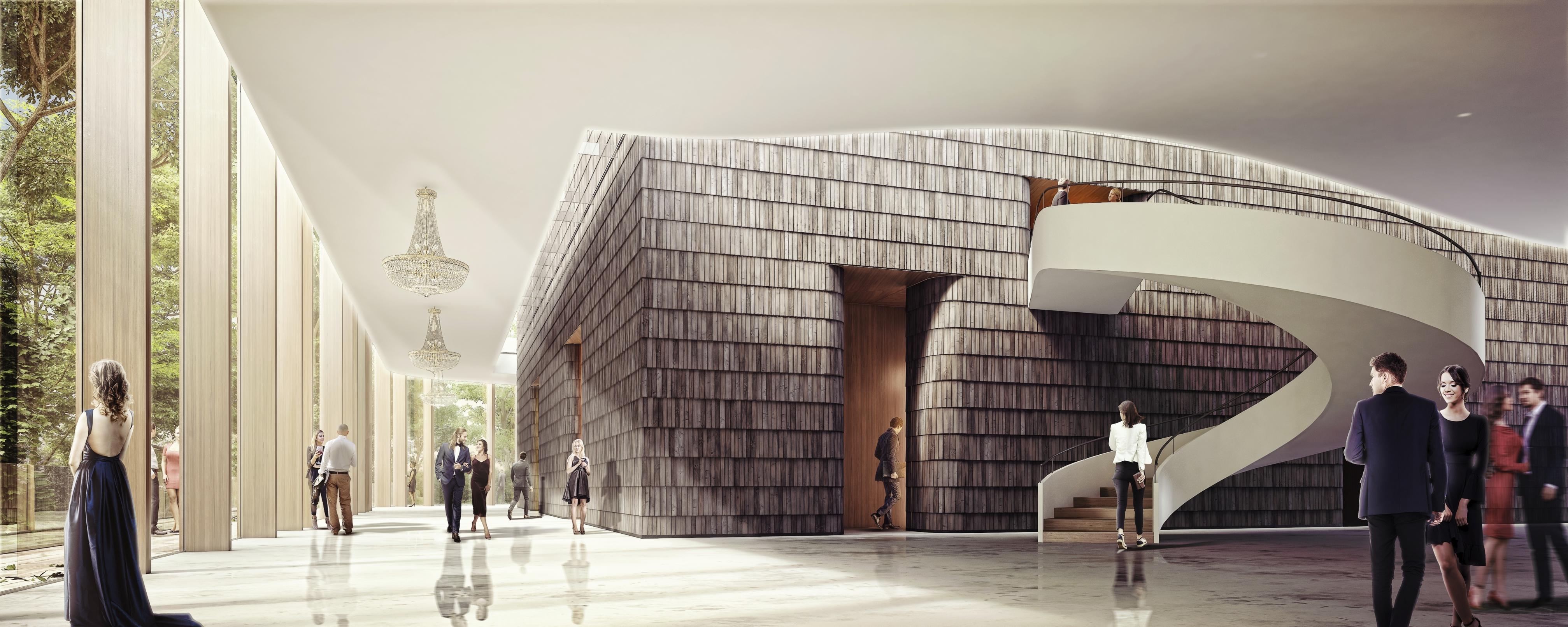 Chopin International Music Centre HRA Architekci 2018 foyer