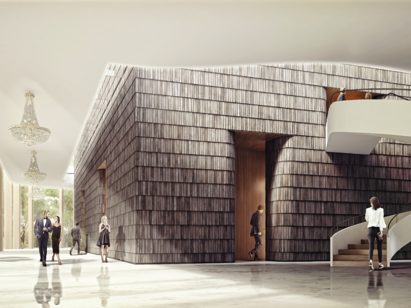 Chopin International Music Centre HRA Architekci 2018 foyer