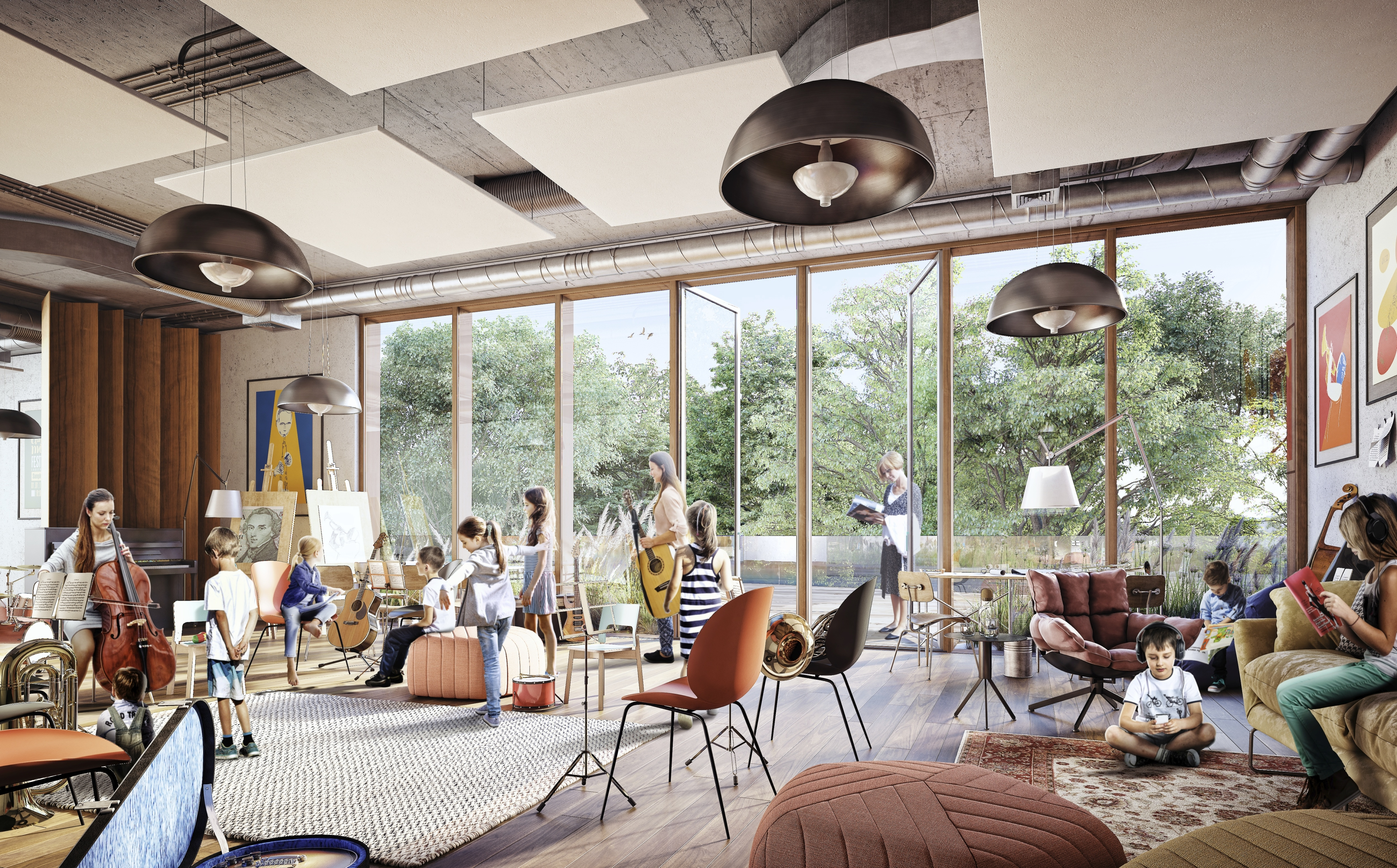 Chopin International Music Centre HRA Architekci 2018 rehersal and educational room