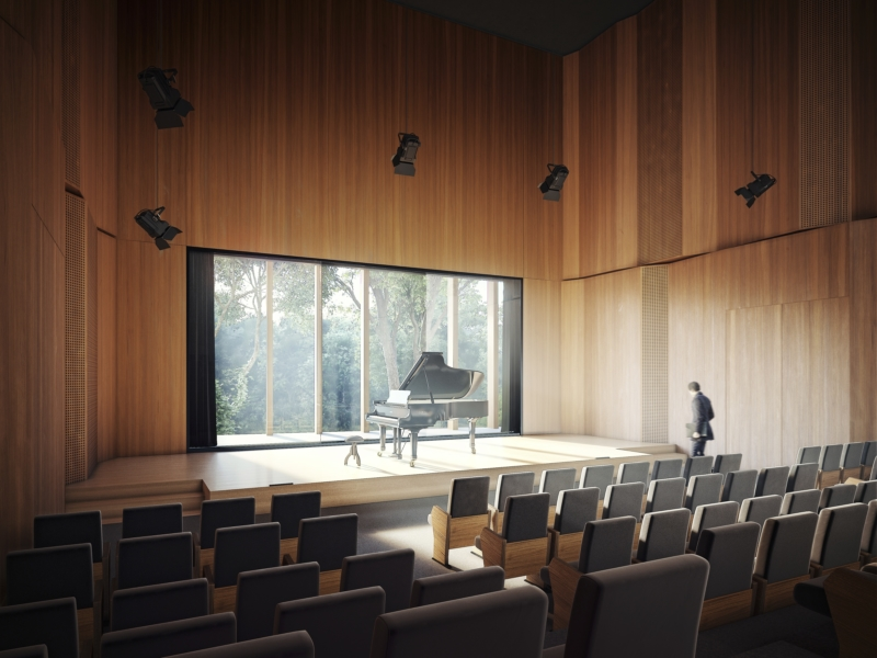 Chopin International Music Centre HRA Architekci 2018 small concert hall