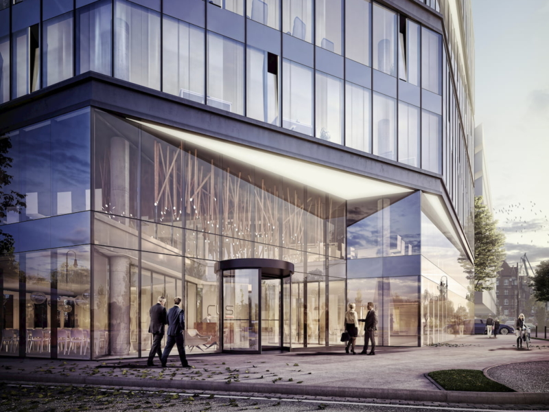 Budynek Biurowy w Gdańsku RWS APA Wojciechowski Architekci 2016 Wejście główne