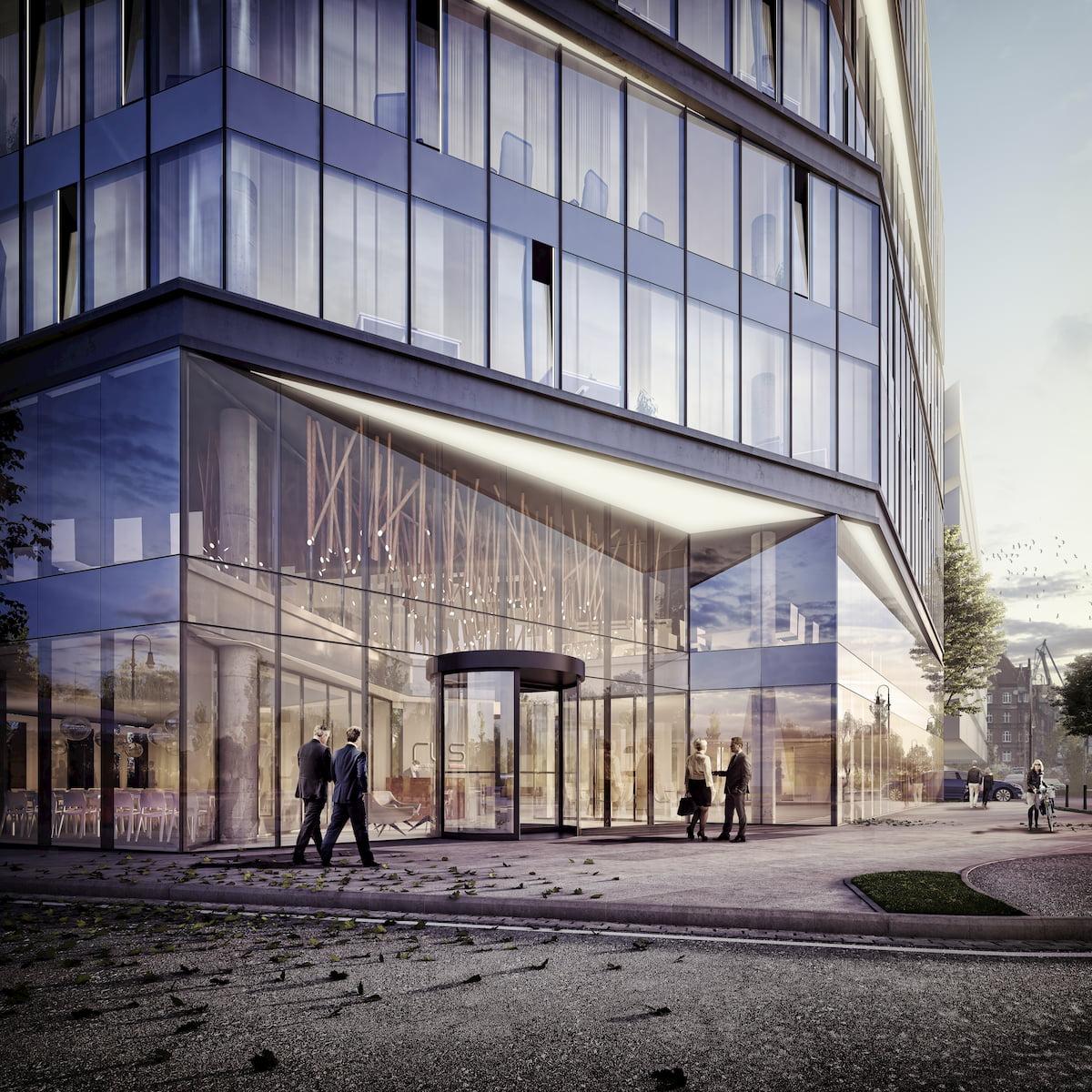 Gdansk Office building RWS APA Wojciechowski Architekci 2016 entrance