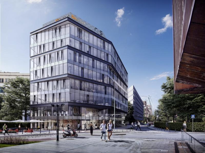 Budynek Biurowy w Gdańsku RWS APA Wojciechowski Architekci 2016 Widok z ulicy