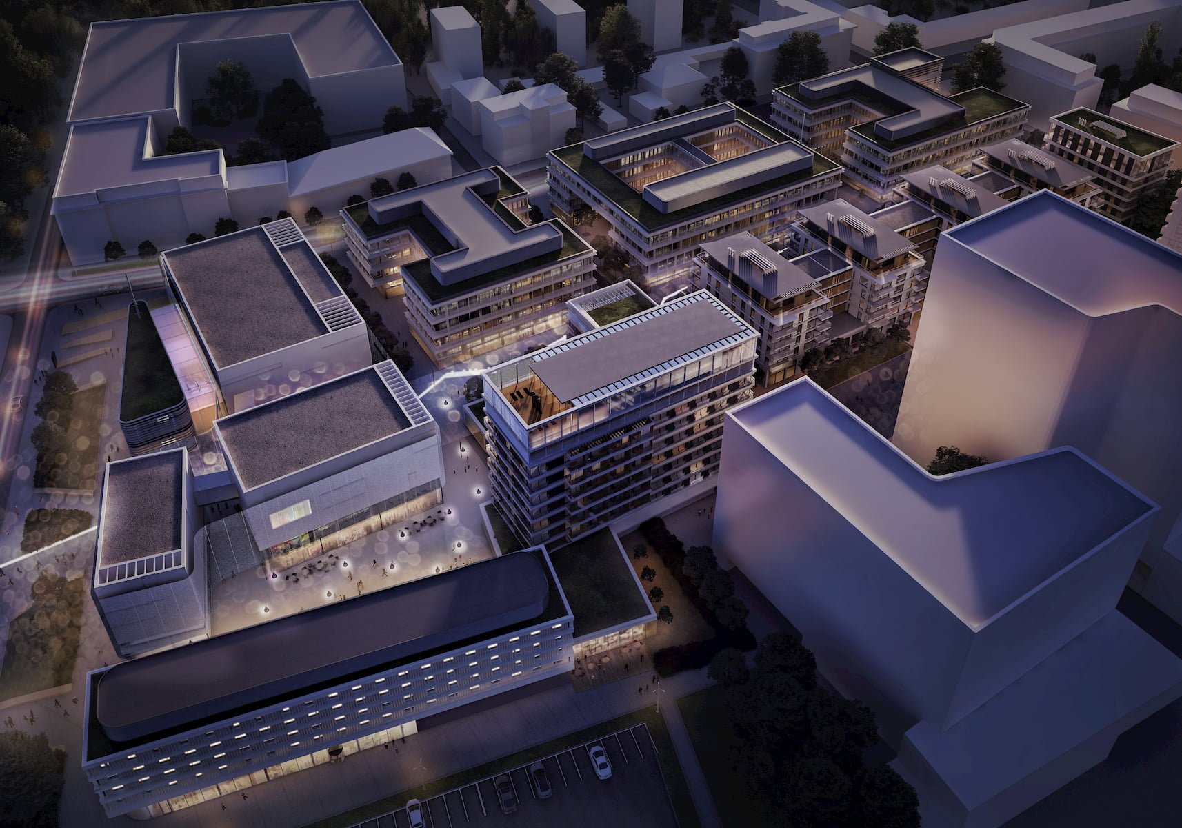 Gdynia Waterfront Vastint APA Wojciechowski Architekci 2017 aerial view