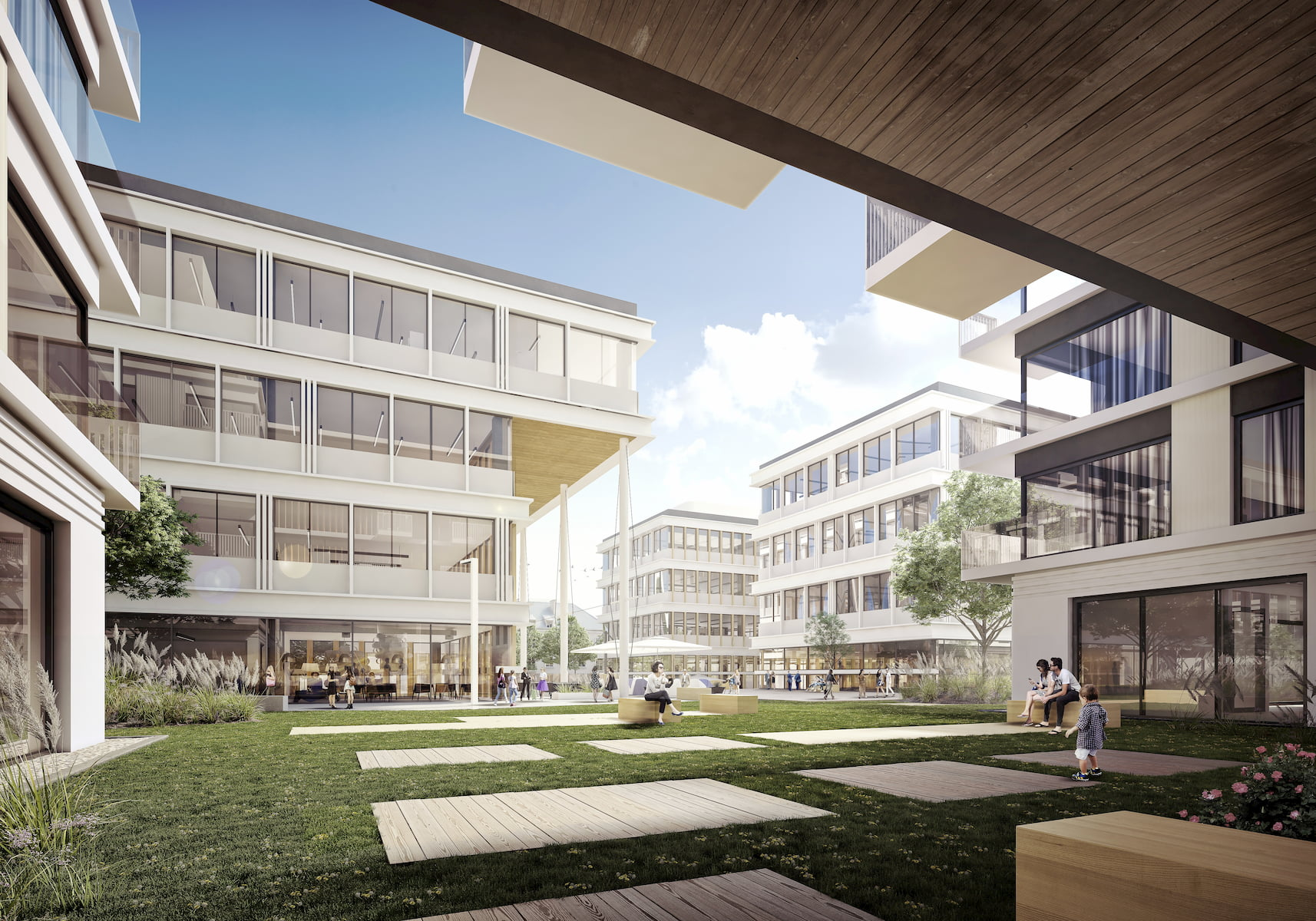 Gdynia Waterfront Vastint APA Wojciechowski Architekci 2017 courtyard view