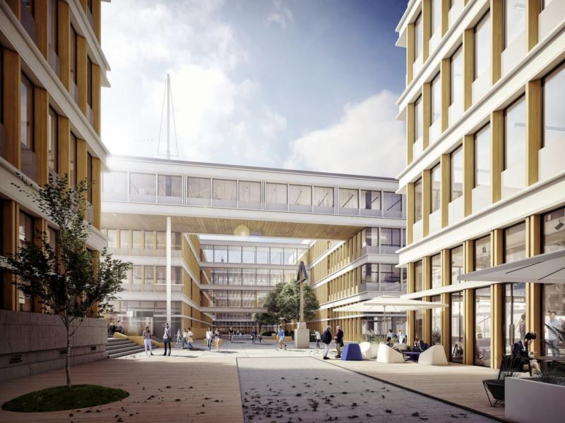 Gdynia Waterfront Vastint APA Wojciechowski Architekci 2017 widok z dziedzińca