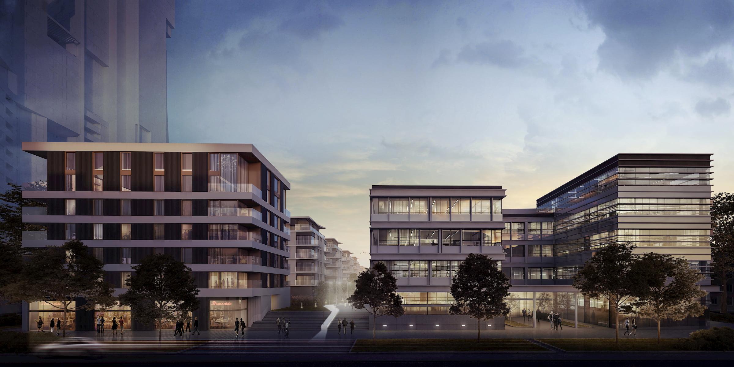 Gdynia Waterfront Vastint APA Wojciechowski Architekci 2017 street view