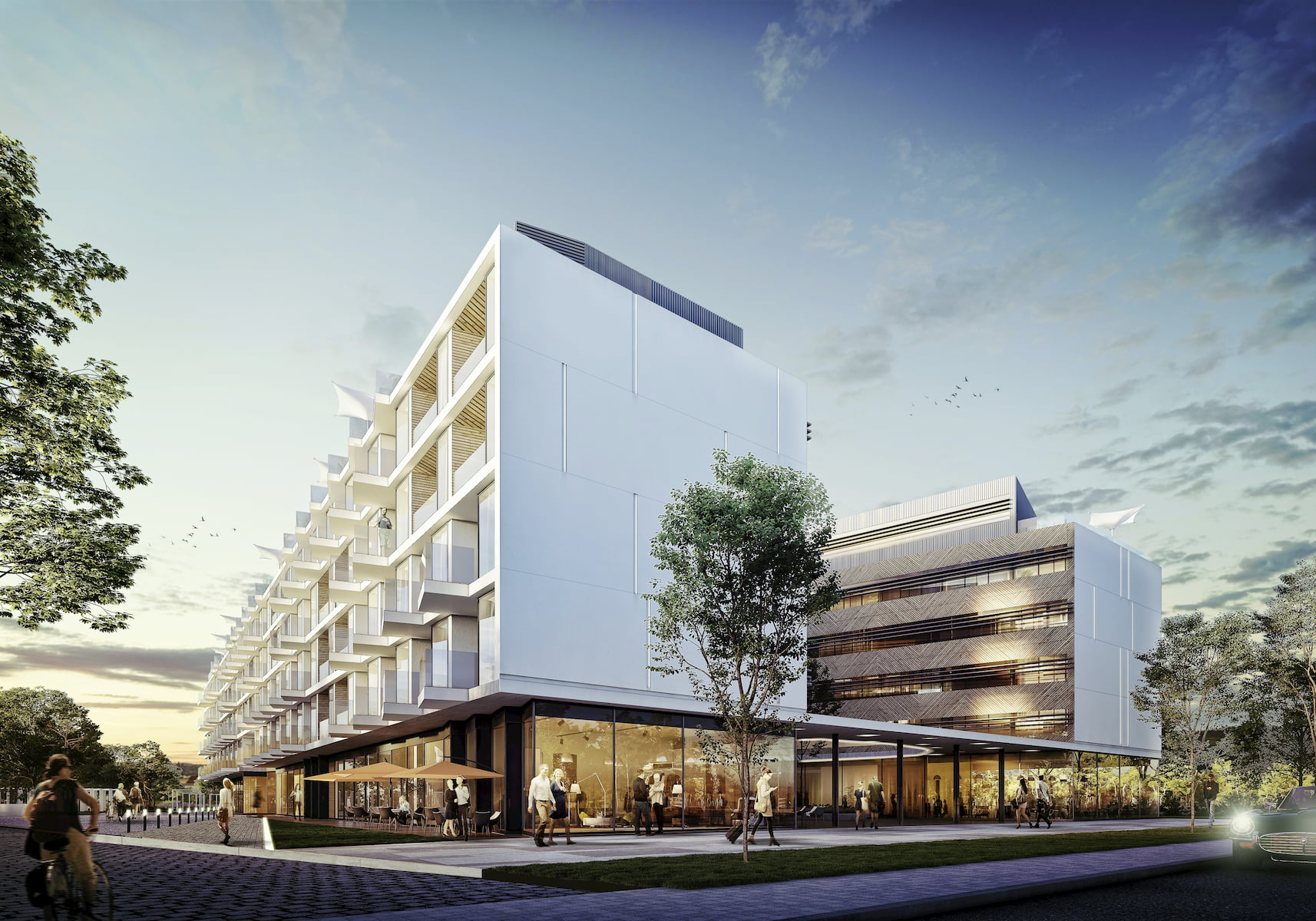 Hotel Resort by the Baltic Sea APA Wojciechowski Architekci 2016 street view