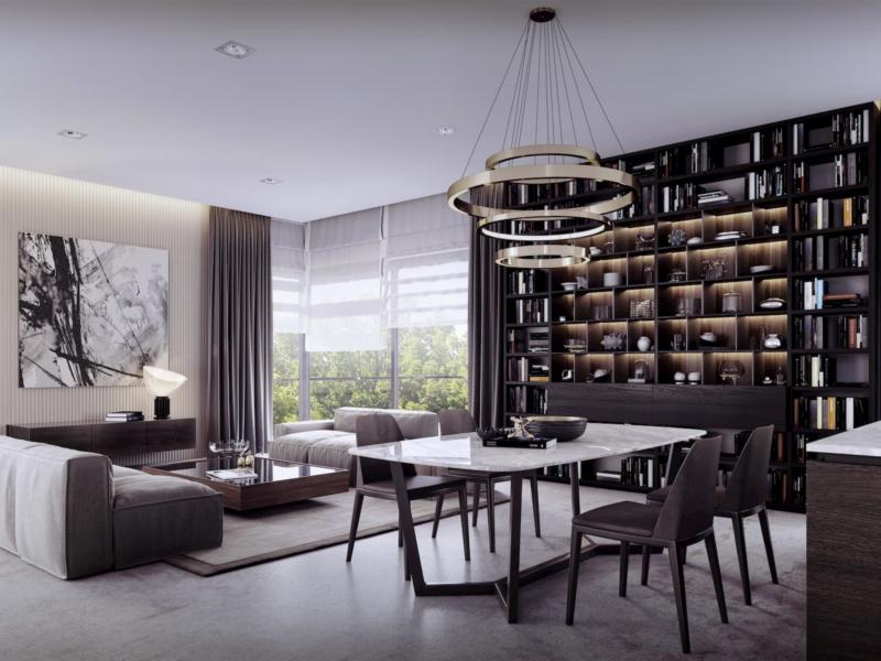 Lazienki Park Residence Yareal HRA Architekci Dembowska/Jagiełło 2018 apartment interior