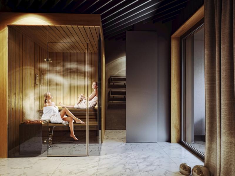Lazienki Park Residence Yareal HRA Architekci 2018 SPA & fitness zone