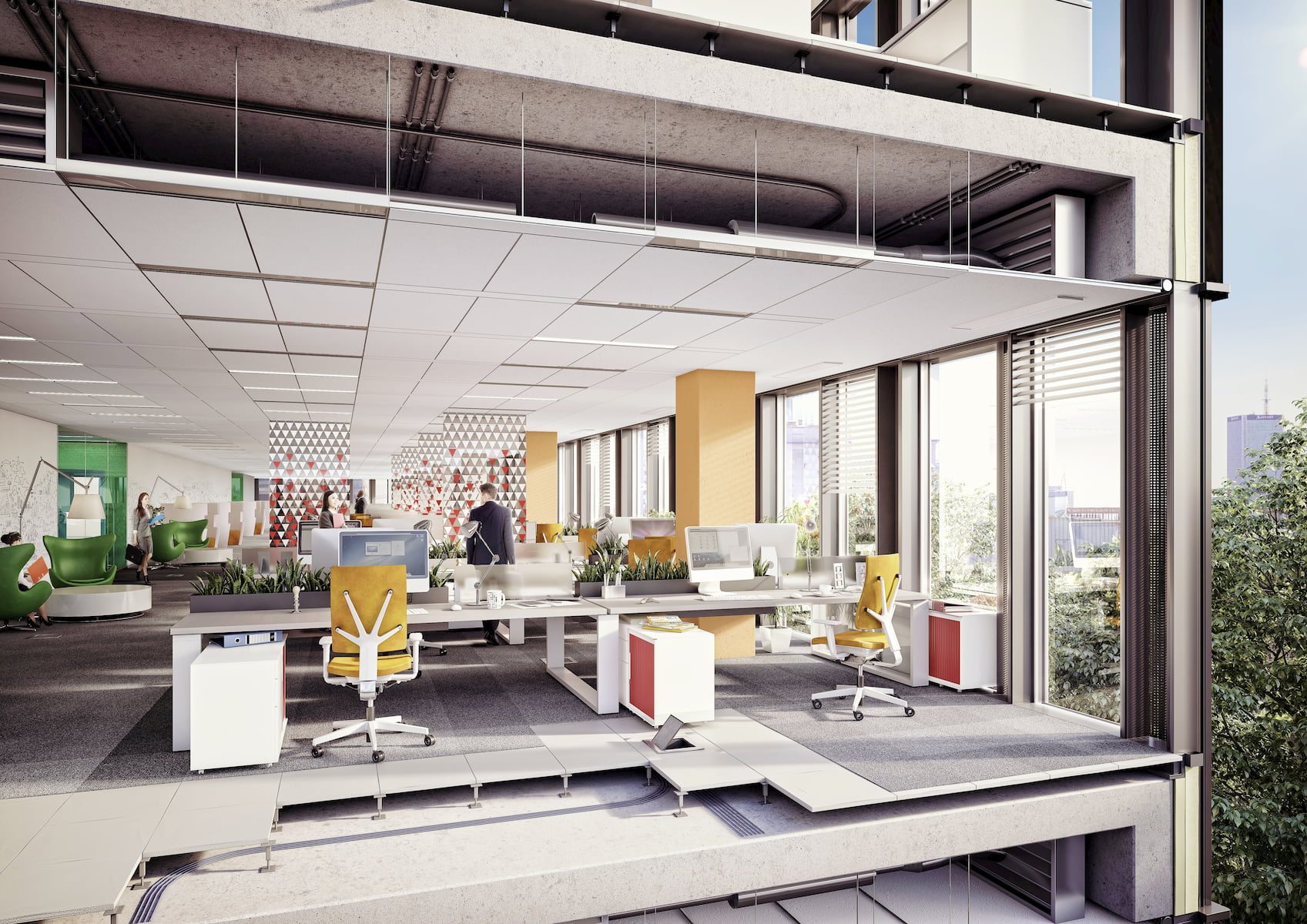Lixa Office Park Yareal HRA Architekci 2014-2018 cross section