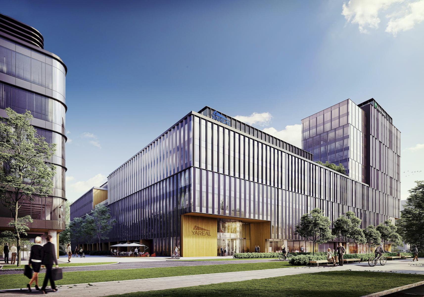 Lixa Office Park Yareal HRA Architekci 2014-2018 widok z ulicy