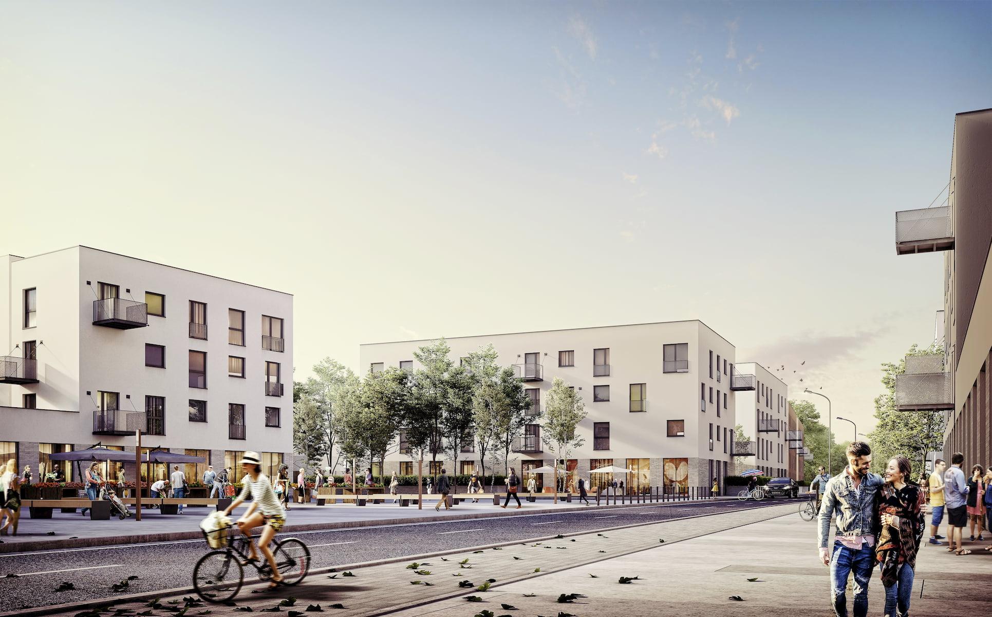 Multifunctional development Szopienice Kuryłowicz & Associates 2017 street view