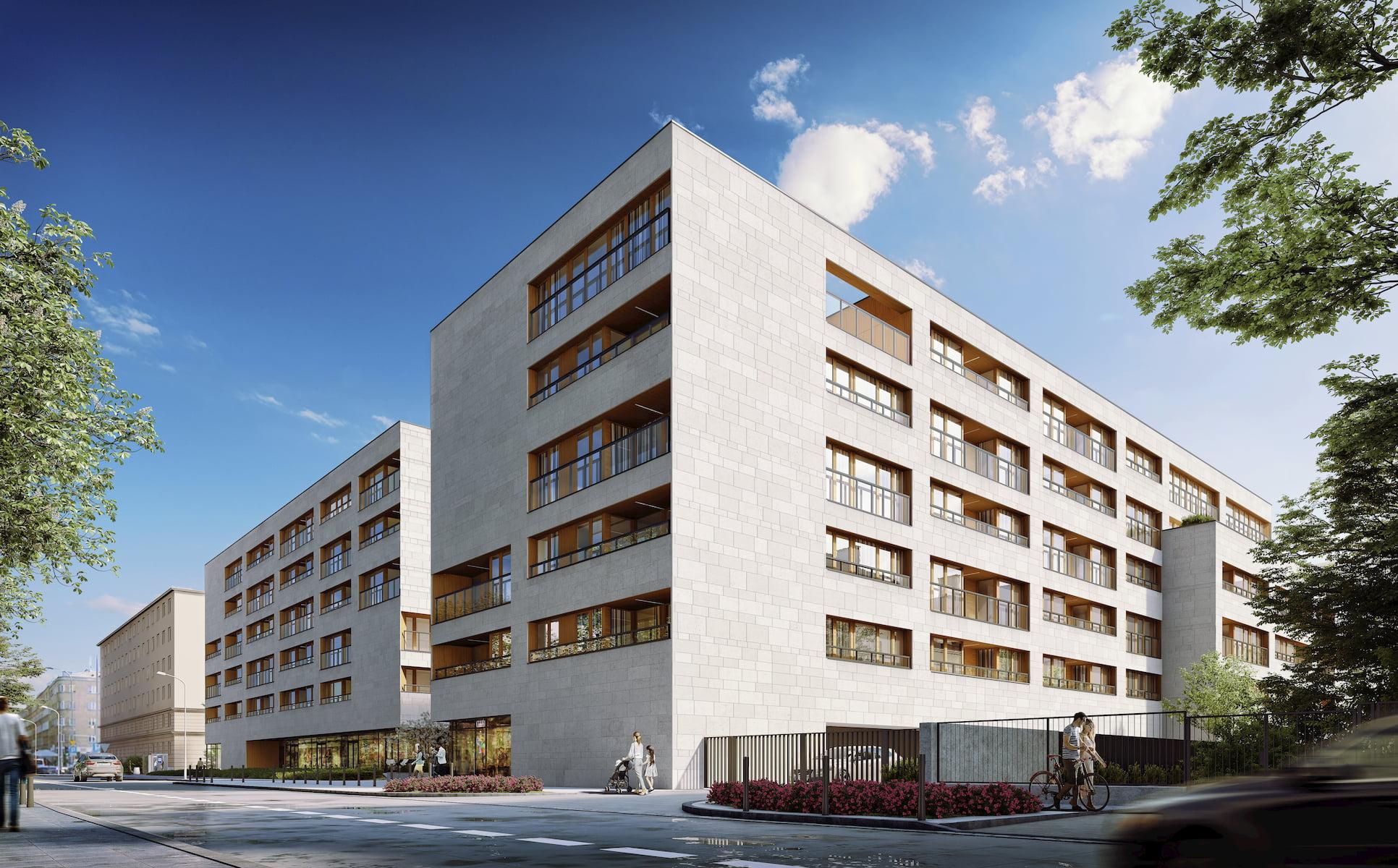 Niemcewicza Apartments Napollo JEMS 2019 street view