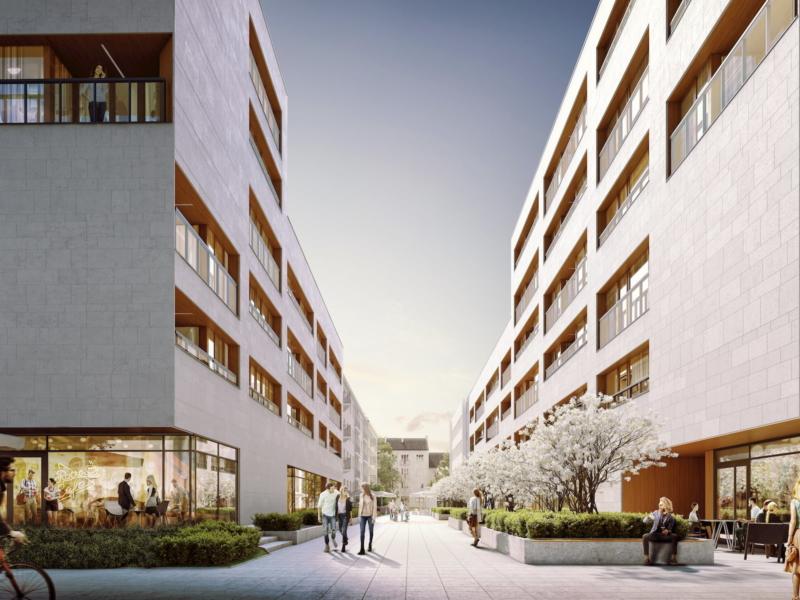 Apartmenty Niemcewicza Napollo JEMS 2019 widok z ulicy