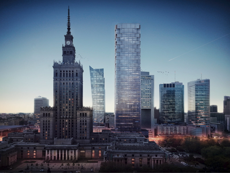 Office building Warsaw Kuryłowicz & Associates 2015 aerial view