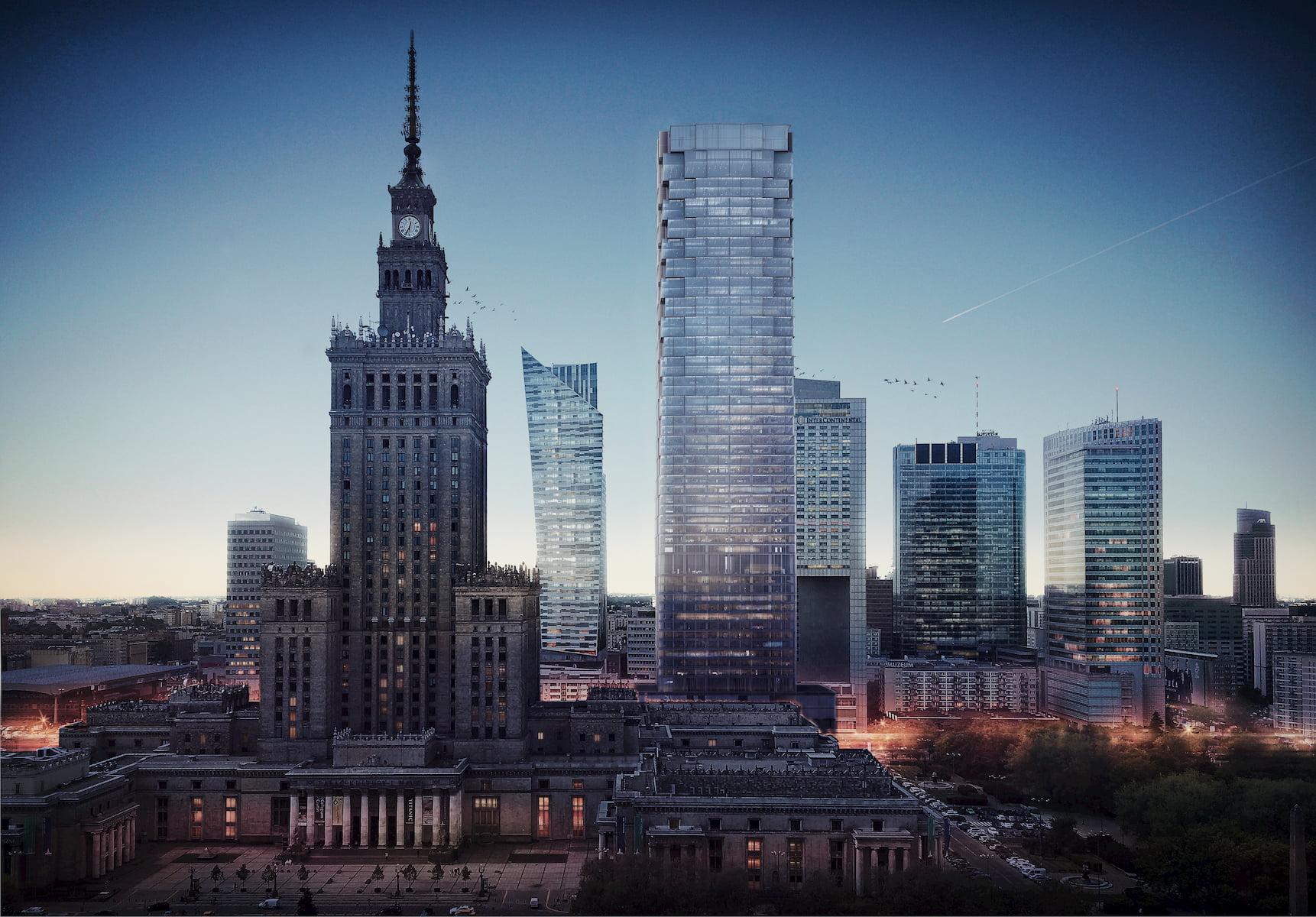 Office building Warsaw Kuryłowicz & Associates 2015 aerial view