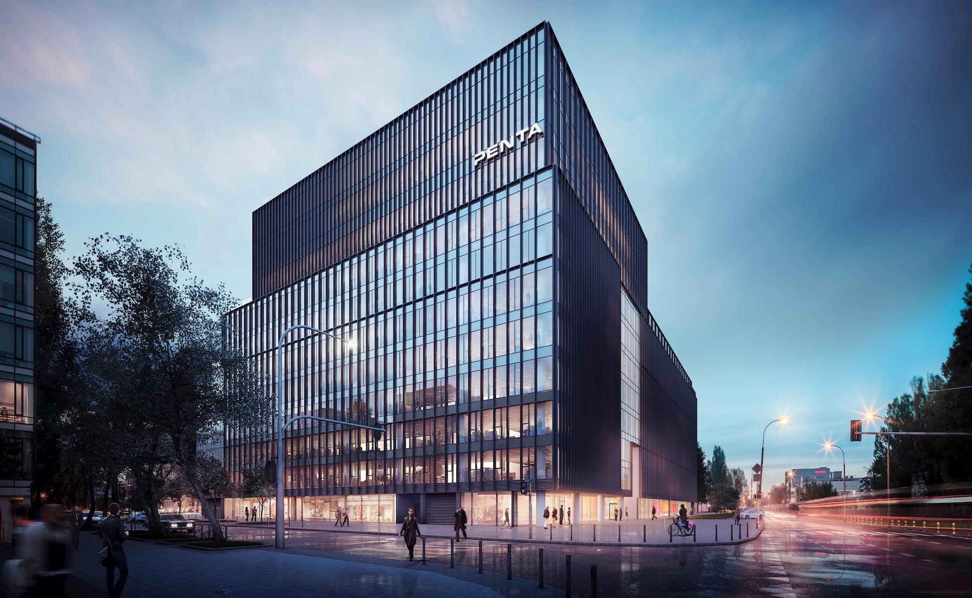 Office building in Warsaw HRA Architekci 2014 street view