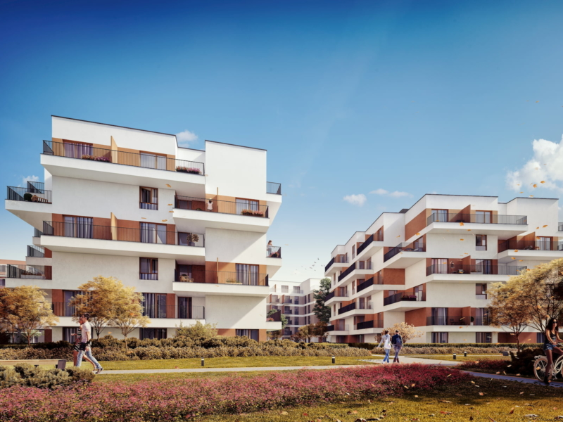 Riviera Park Housing estate in Warsaw HRA Marvipol 2016 autumn