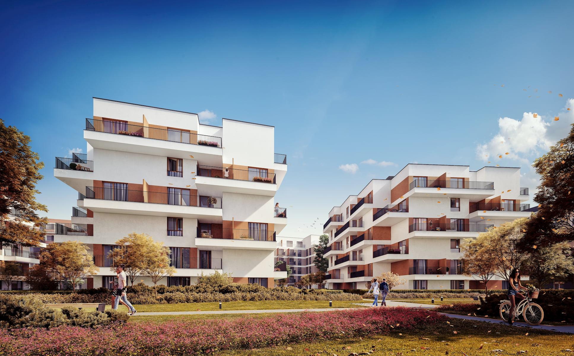 Riviera Park Housing estate in Warsaw HRA Marvipol 2016 autumn