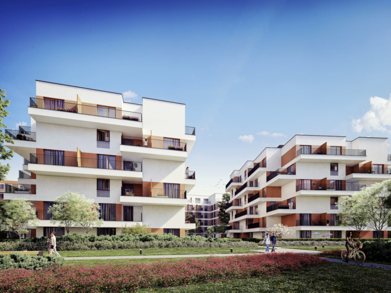 Riviera Park Housing estate in Warsaw HRA Marvipol 2016 summer