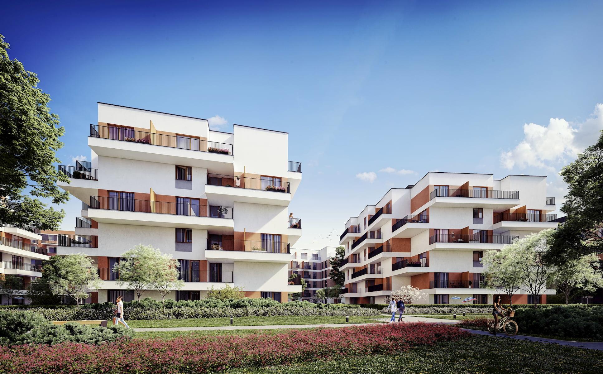 Riviera Park Housing estate in Warsaw HRA Marvipol 2016 summer