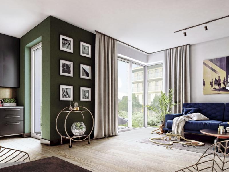 SOHO Warsaw Yareal HRA Architekci / Dembowska Jagiello 2019 wnętrze apartamentu