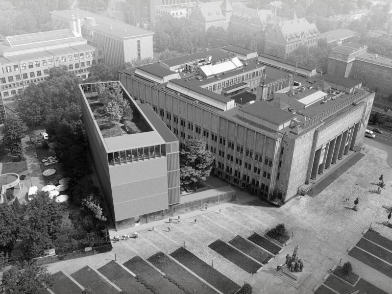 Muzeum Stanisława Wyspiańskiego w KrakowieHRA Architekci 2019 widok z lotu ptaka