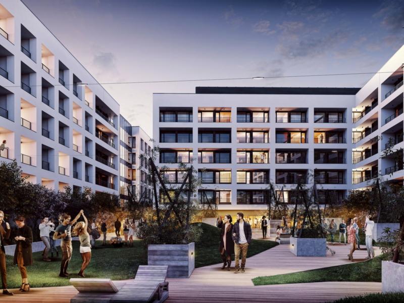 Student hostel Basecamp Student Grupa5 2019 courtyard view