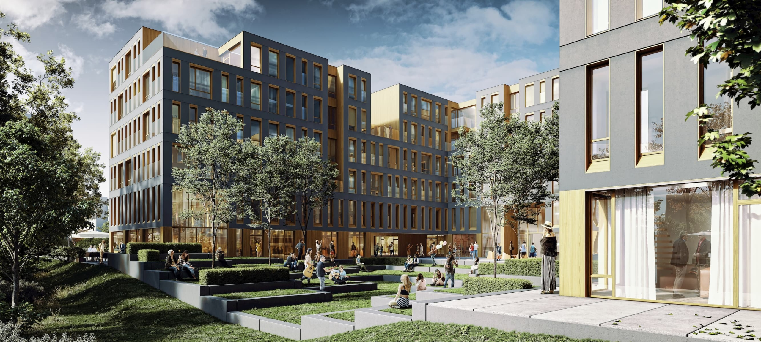 Student hostel in Warsaw Architectural Competition Entry 4AM Architekci 2019