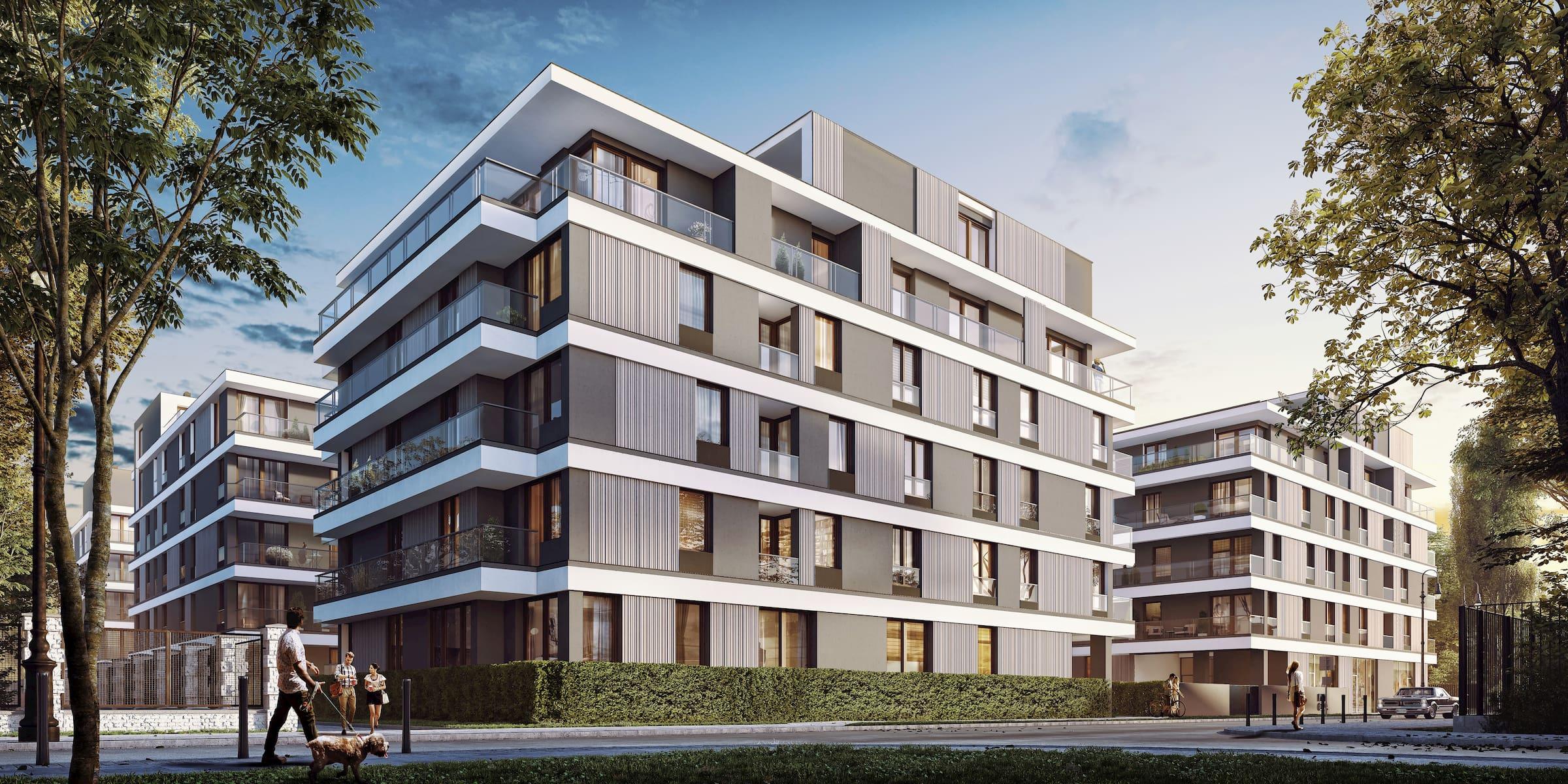 Housing estate in Warsaw Yareal Maas Projekt 2019