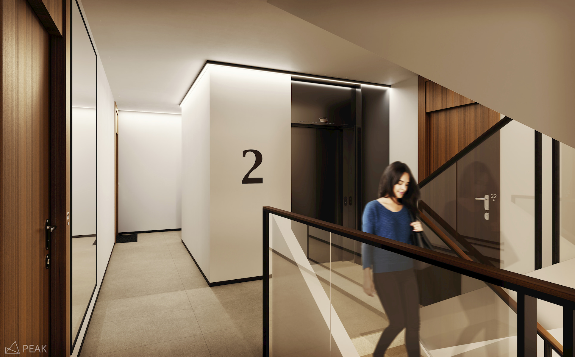 Housing estate in Warsaw Yareal Maas Projekt 2019 interior