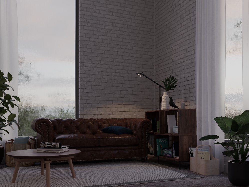 Wet glass v-ray 5 GPU demo scene with Cosmos assets
